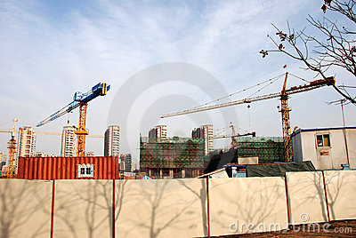 Tower crane in site stock images image 13224514