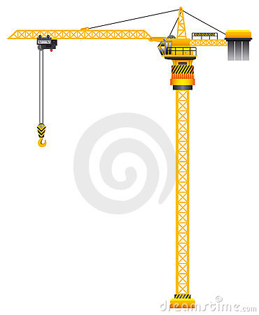 Free Tower Crane Vector Stock Photo - 5889310