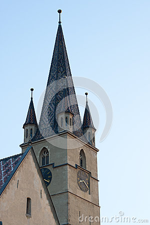 Tower of the Evanghelical Church in Sibiu