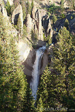Tower Falls Waterfall in Yellowstone