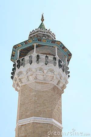 The tower of the Great mosque in Tunis