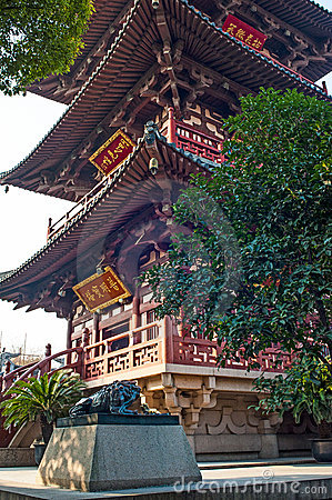 Tower in Hanshan temple, Suzhou, China