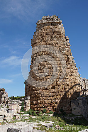 Tower of the Hellenistic Gate  in the ancient Greek city of  Per