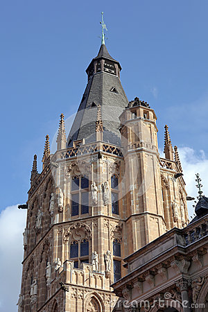 Tower of the historic town hall of Cologne