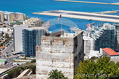 Tower of Homage in Gibraltar
