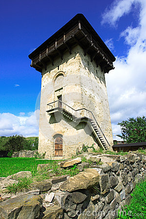 Tower at Humor monastery in Bucovina