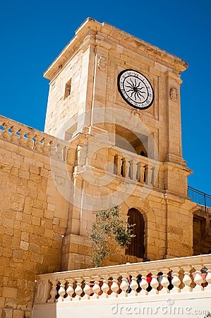 Free Tower In The Medieval Citadel Of Gozo Royalty Free Stock Photos - 100262268