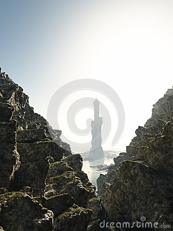 Free Tower In The Mist Stock Images - 40134654