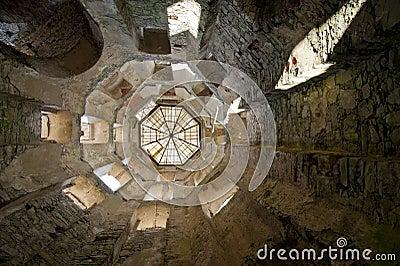 Tower of Krzyztopor Ruin Castle in Poland