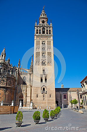Free Tower La Giralda Of Cathedral  In Seville, Spain. Stock Photos - 30474033