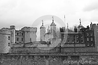 Tower of London Black and White