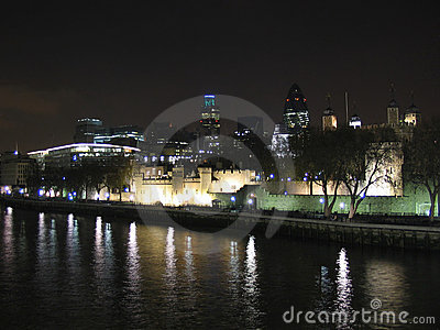 Tower of London and the modern towers
