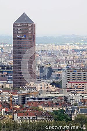 Tower in Lyon Part-Dieu - Tour du Crédit Lyonnais Editorial Image