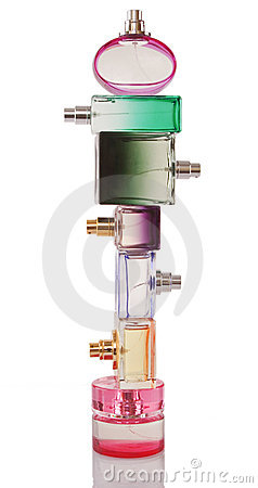 Free Tower Made From Perfume Bottles Royalty Free Stock Photography - 19162317