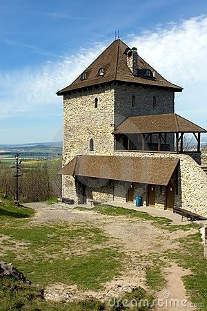 The tower of the medieval castle