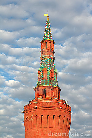 Tower of Moscow Kremlin.