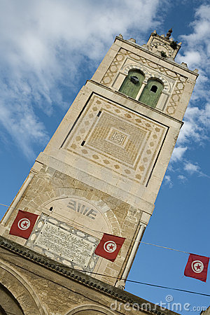 Tower of a mosque in Tunis
