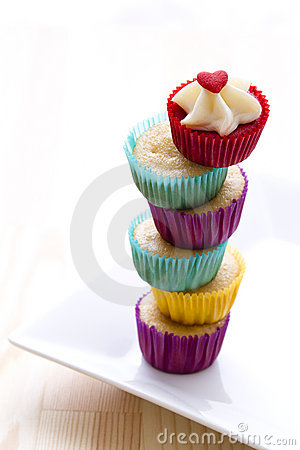 Free Tower Of Cupcakes Stock Images - 19730024