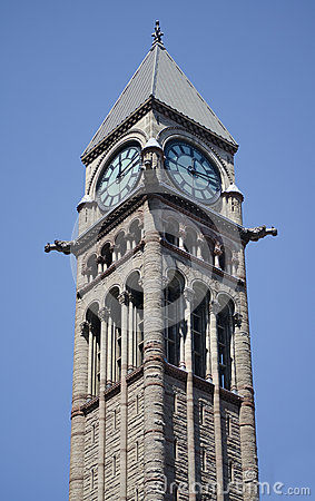 Tower of Old City Hall in Toronto