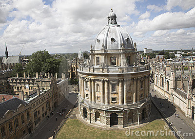 Tower in Old City of Oxford, England
