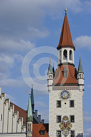 Tower of Old Town Hall in Munich