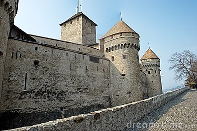 Tower and Parapet of a Medieval Castle