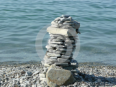Tower of pebble stones