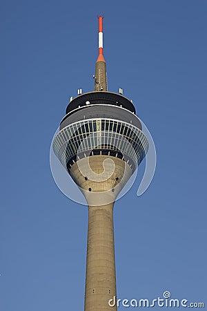 The tower Rheinturm of Dusseldorf in Germany
