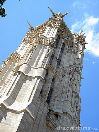 The tower of Saint Jacques, Paris