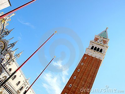 Tower of San Marco square in Venice  - italy