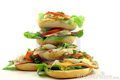 Tower of sandwiches