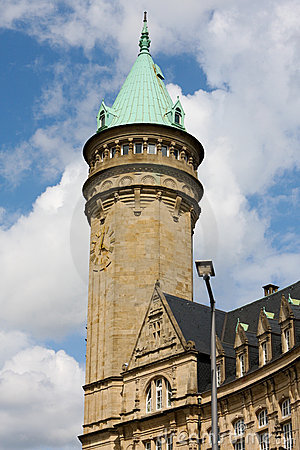 Tower of the savings bank in Luxembourg