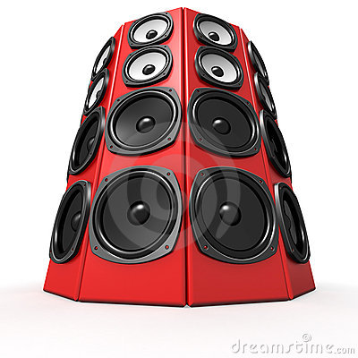 Tower of sound boxes