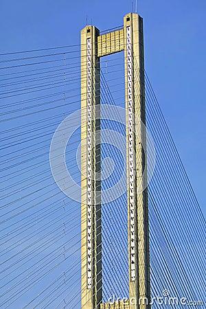 Tower of South Bridge in Kyiv, Ukraine