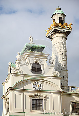 Tower on St. Charles church
