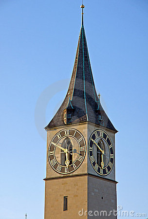 Tower of St. Peter in Zurich