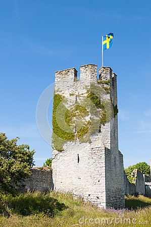 Tower and city wall Visby