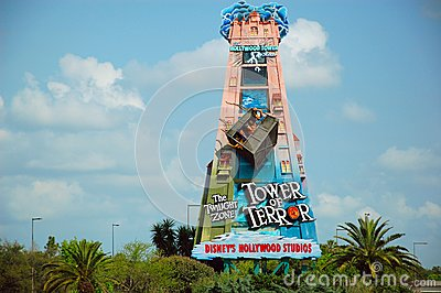 Tower of Terror road sign Editorial Image