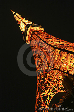 Tower of Tokyo Editorial Photo