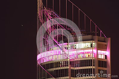 Viewing platform tower at night Editorial Image