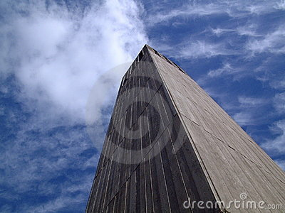 Tower touching the clouds