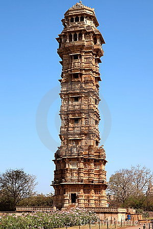 Tower of victory inside the Chittorgarh fort