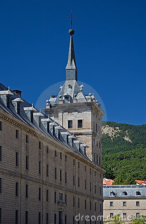 Tower and wall of Escorial