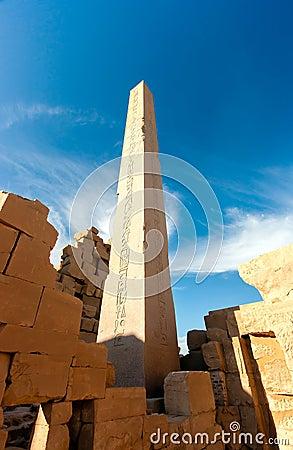 A towering ancient Obelisk in Karnak Temple