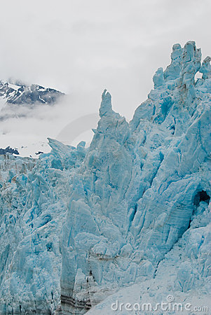 Towering glacial shapes