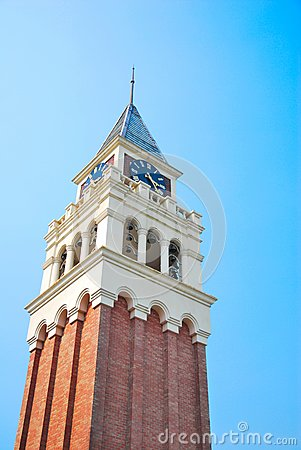 Towering majestic clock tower