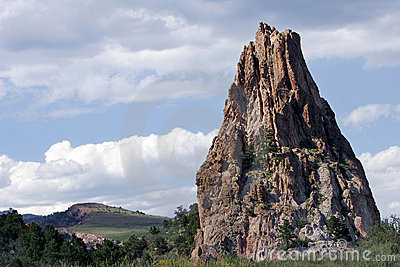Towering Rock Formation in Garden of the Gods state park (Colorado).
