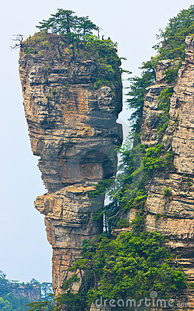 Towering stone peak, Zhangjiajie China