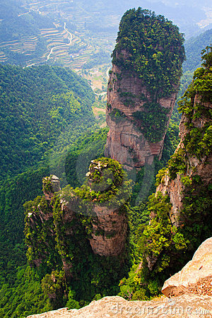 Towering Stone Pillar, Zhangjiajie China