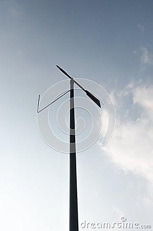 The towering wind vane!